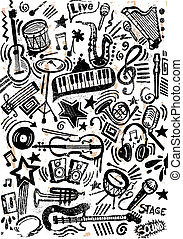 Instruments Grunge Doodle - This Doodle was created with...
