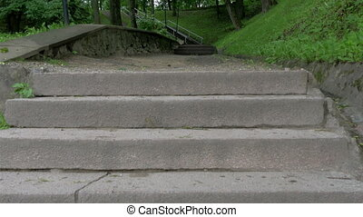 Stairs leading up to the Toome hill park