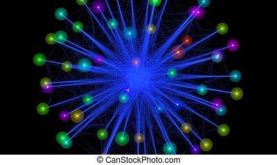 Dancing orbs of energy in space