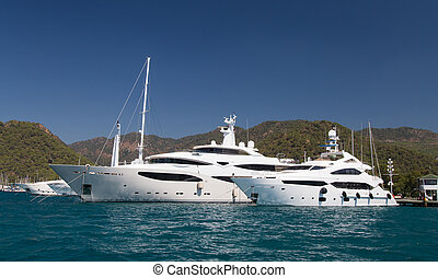 Yachts in Gocek Marina, Turkey