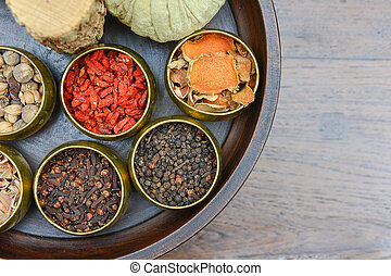 A set of herb for spa therapy