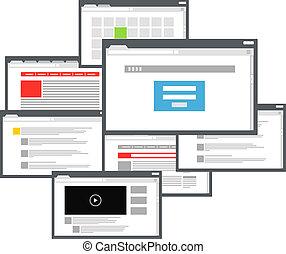Different browser windows communication scheme