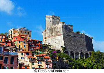 Castle of Lerici - Liguria Italy - Lerici Castle (1155) and...