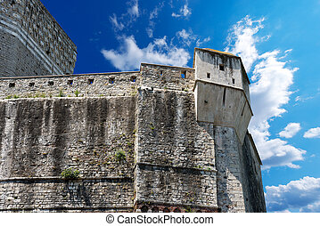 Castle of Lerici - Liguria Italy - Detail of the old walls...