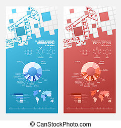 Oil infographic design. - Oil infographic design with mosaic...