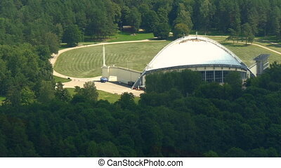 A dome-like song stage in Vilnius Lithuania - A dome-like...
