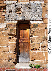 Wooden Door - San Gimignano Tuscany Italy - Detail with...