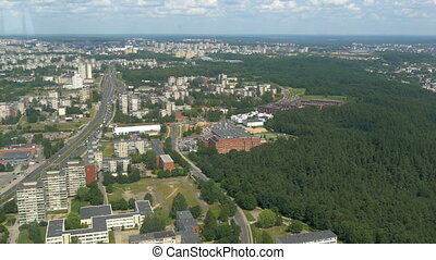 The aerial city view from the TV tower in Vilnius - The...