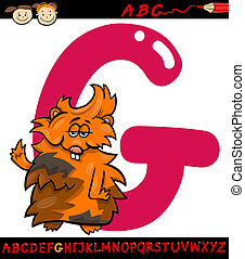 letter g for guinea pig cartoon illustration - Cartoon...