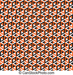 Seamless Abstract Cube Pattern - Seamless Abstract Geometric...