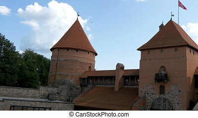 The architectural view of the old castle in Trakai