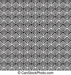 Seamless Art Deco Pattern - Abstract Seamless Vector...