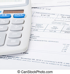 Utility bill and calculator - 1 to 1 ratio