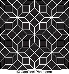 Seamless Art Deco Tracery Pattern