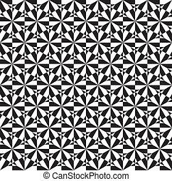 Seamless Op Art Spiral Pattern