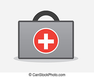 First Aid Kit - First aid kit with handle