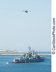 rússia, mar, militar, frota, marinho, Dia