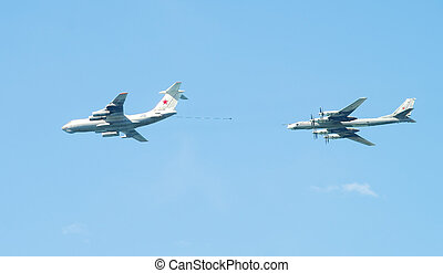Air show in Sevastopol on celebrating on 9th of May 2014...