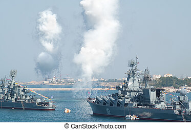 Day military marine sea fleet of Russia - Sevastopol, crimea...