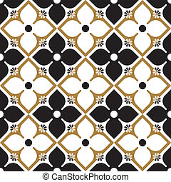 Seamless Vintage Gothic Pattern - Vector Editable Seamless...