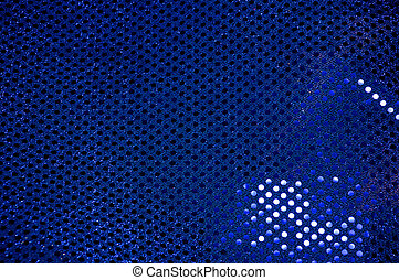 Blue sequined sparkling cloth background