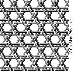 Optical Illusion Pattern - Triangle Optical Illusion Pattern
