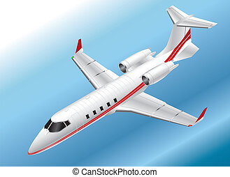 Isometric Learjet 60 - Detailed Isometric Illustration of a...