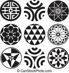 Round Vector Design Graphics