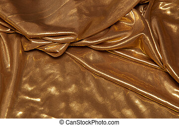 layered gold fabric background - A wrinkled gold fabric...