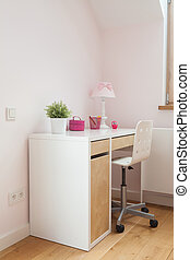 Desk in girl's room