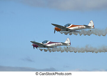 Twister Aerobatics Team - Silence Twister G-SWIP and G-JINX...