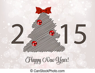 Abstract Beauty 2015 New Year Background. Vector...
