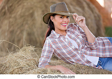 beautiful country girl - portrait of beautiful country girl...