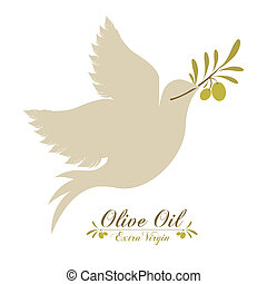 Olive oil design over white background, vector illustration