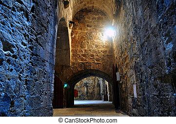 Fortification: Venetian castle (Koules), in Crete, Greece -...