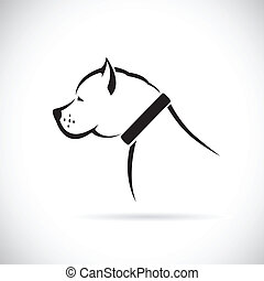 Vector images of Pitbull dog on a white background