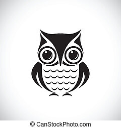 Vector images of owl on a white background.