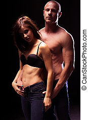 Very Sexy Couple Flaunting Flat Abs - Very Sexy Couple...