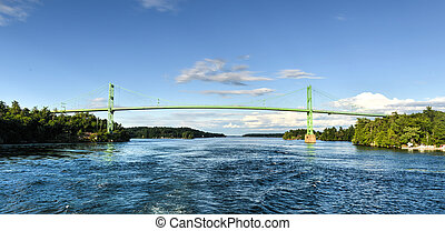 The Thousand Islands Bridge. An international bridge system...