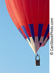 hot air balloon moving up. Copy space