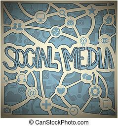 Social Media Network - Vector illustration of a social media...