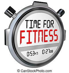 Time for Fitness Words Stopwatch Timer Training Exercise -...