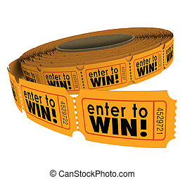 Enter to Win Raffle Ticket Roll Fundraiser Charity Lottery...