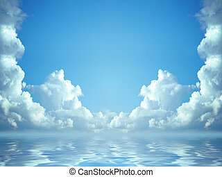 idyllic blue sky - A photography of a idyllic blue sky