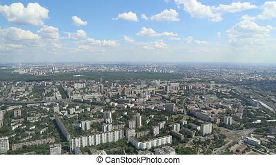 Spectacular aerial view of Moscow - Spectacular aerial view...