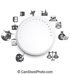 business infographics circle origam - Vector illustration of...