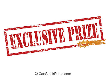 Exclusive prize - Rubber stamp with text exclusive prize...