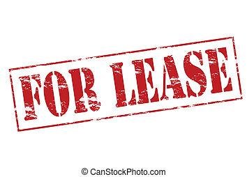 For lease - Rubber stamp with text for lease inside, vector...