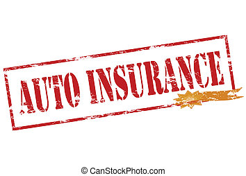Auto insurance - Rubber stamp with text auto insurance...