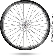 Vector Bicycle Wheel - Detailed vector bicycle wheel on...
